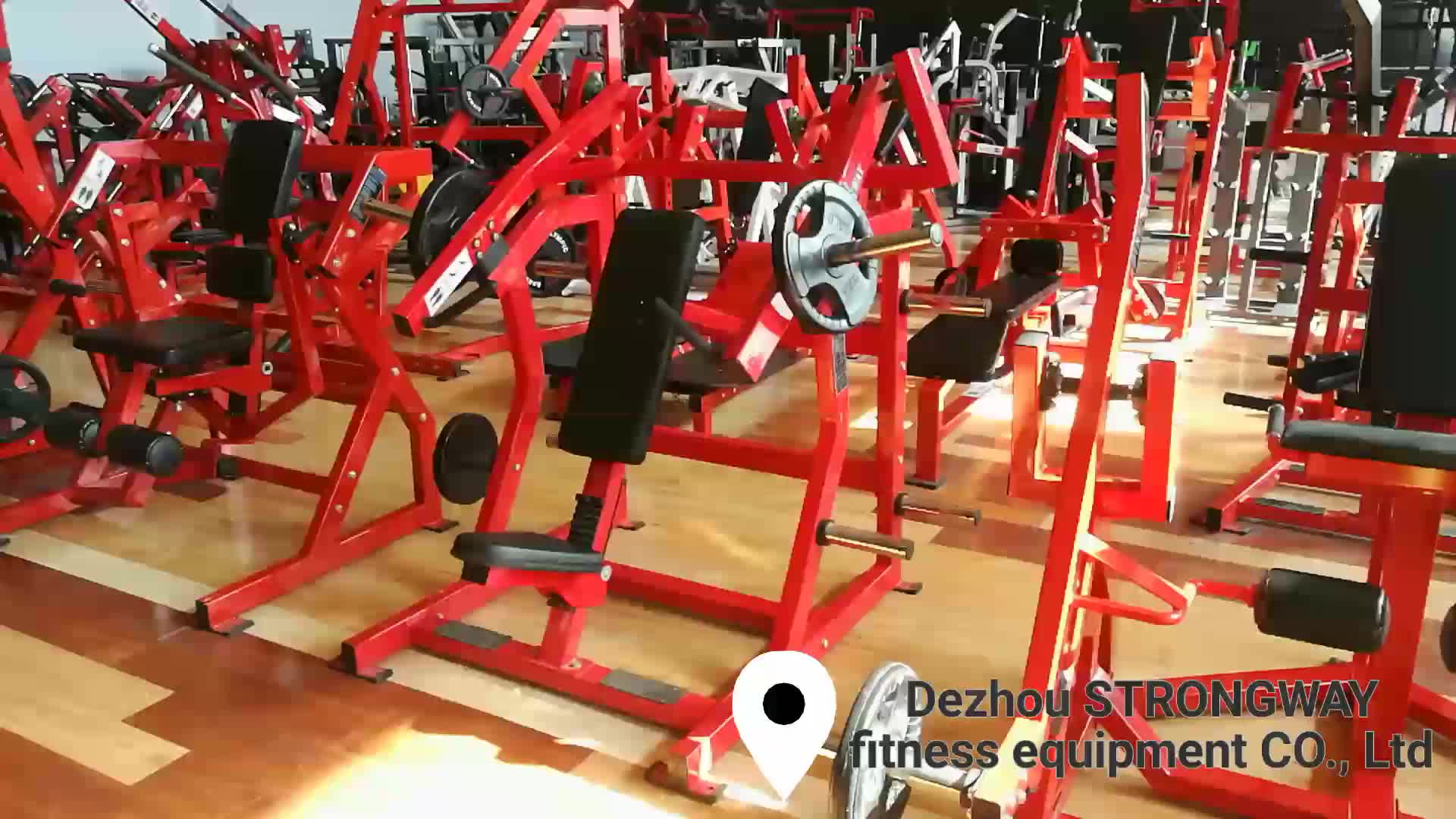 Gym commercial plate loaded fitness equipment incline exercise chest press machine for sale