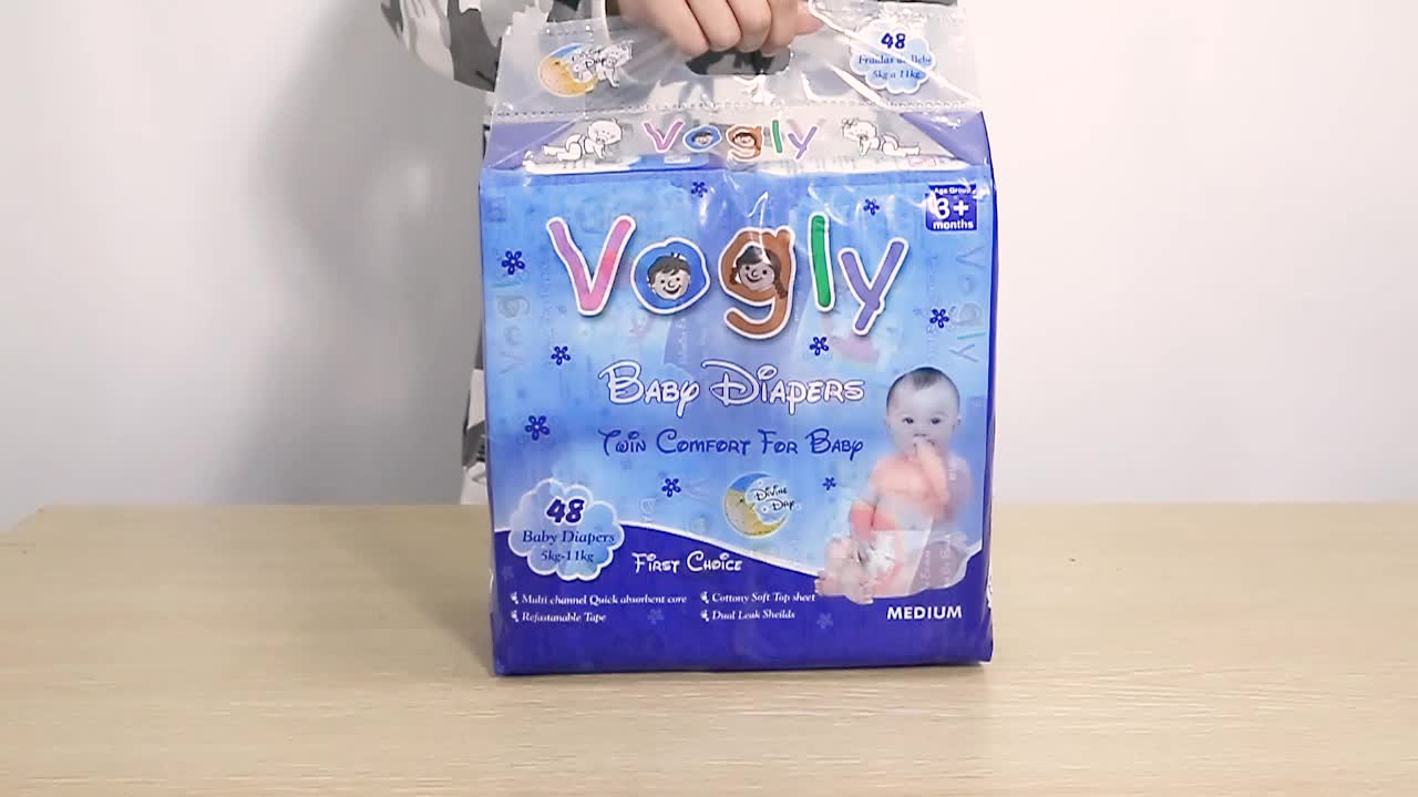 Quanzhou hot sale cheap vogly brand baby diaper for Africa from Fujian ChildSea