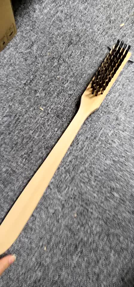 Heavy Duty Oven / Grill Wire Brush with Scraper Commercial Grade