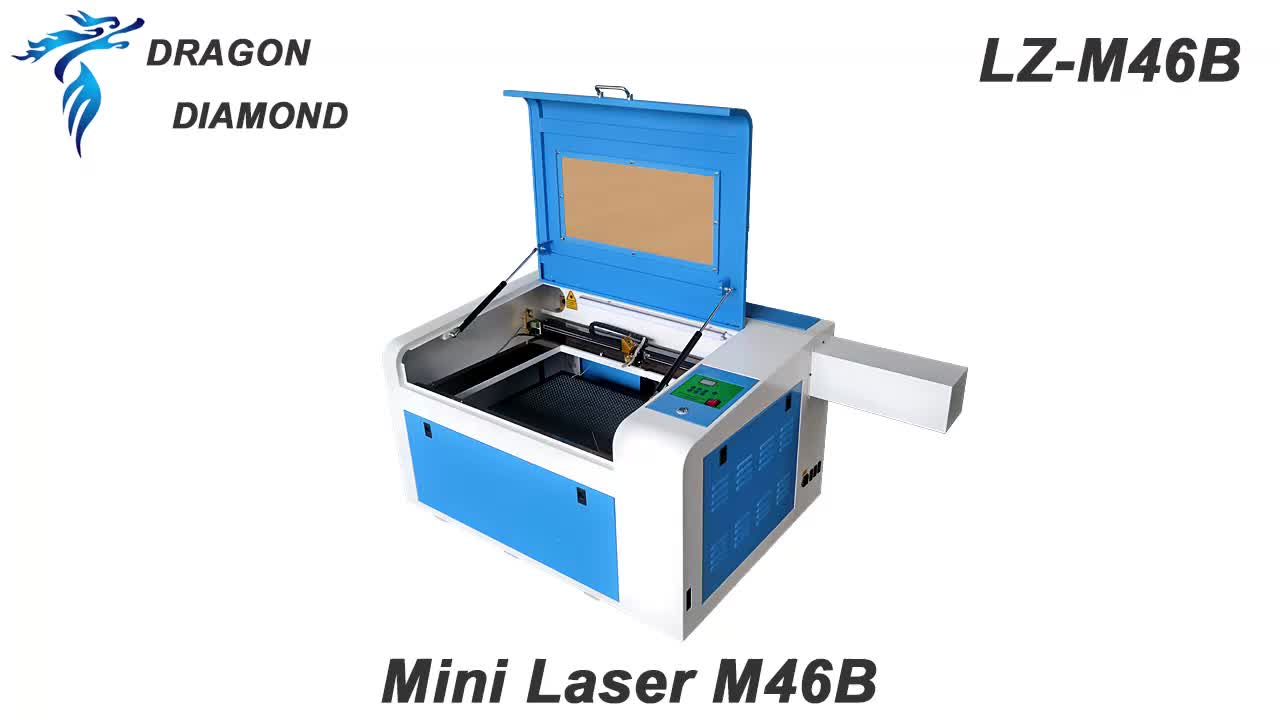 LZ-M46B 60w Crystal Photo Wood Acrylic Mini Co2 Laser Engraving Machine For Sale