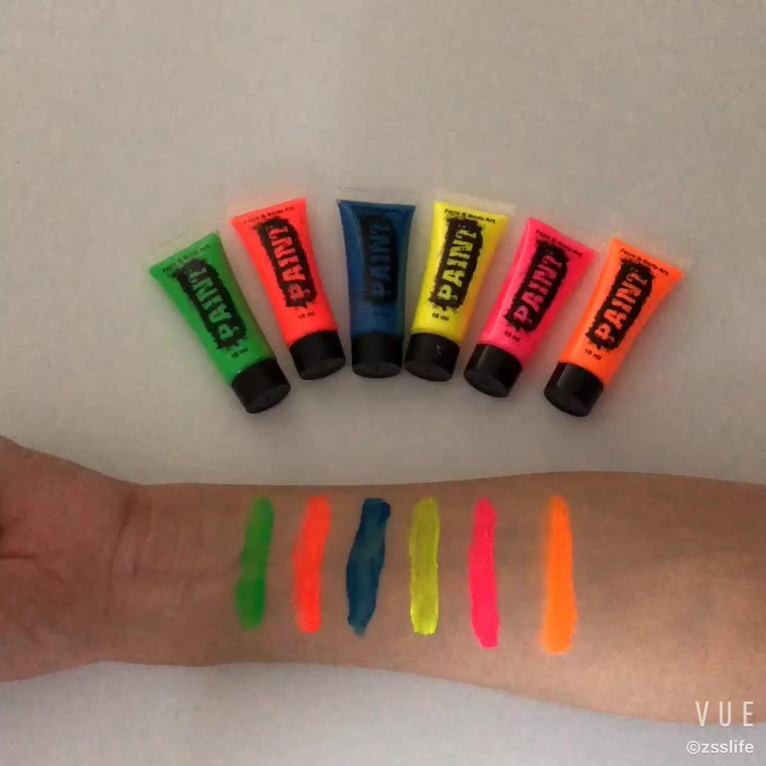 UV-Gesichtsfarbe auf Wasserbasis Neon Run-Gesichtsfarbe