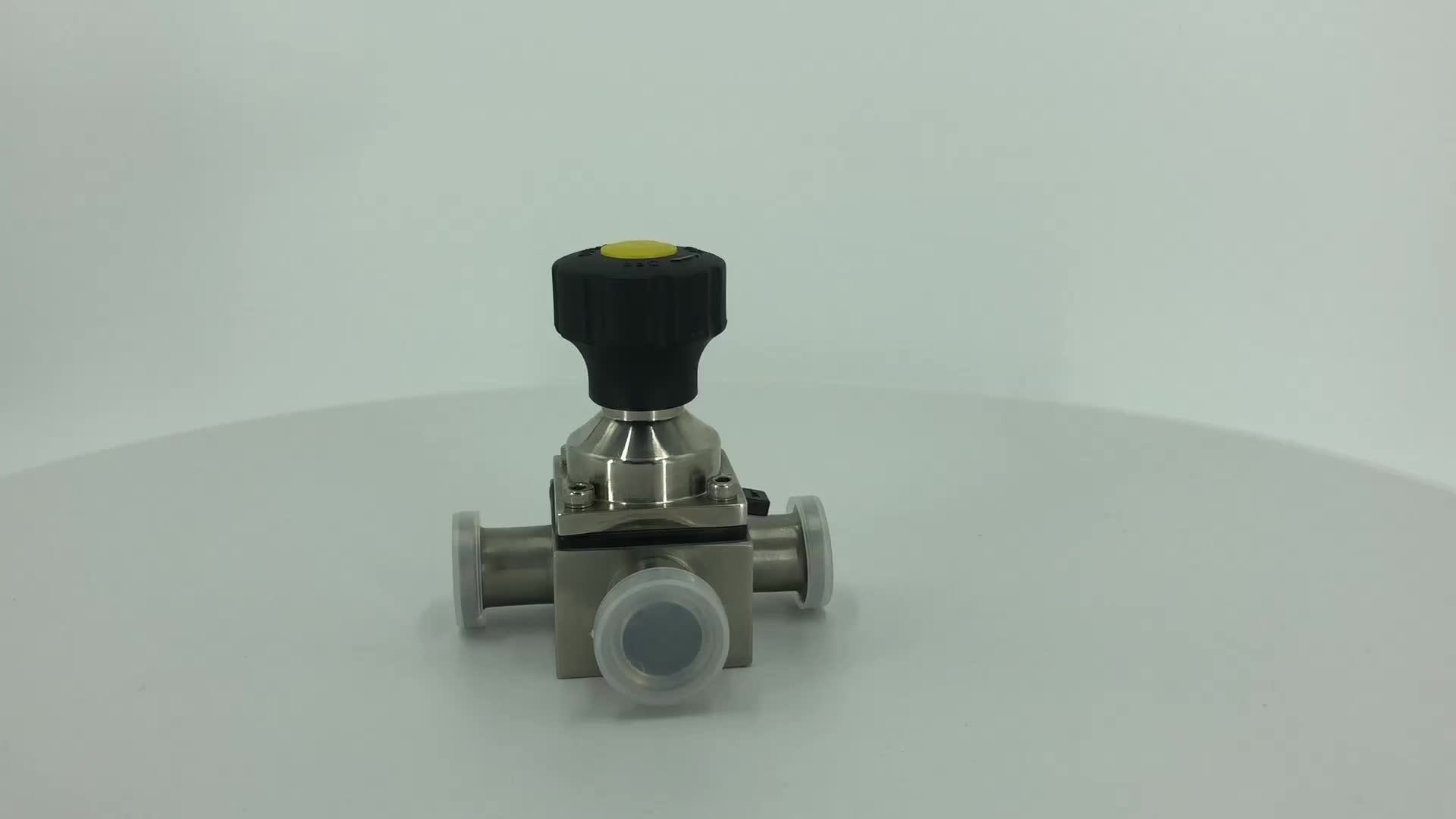 DONJOY Food grade sanitary manual mini three way  diaphragm valve