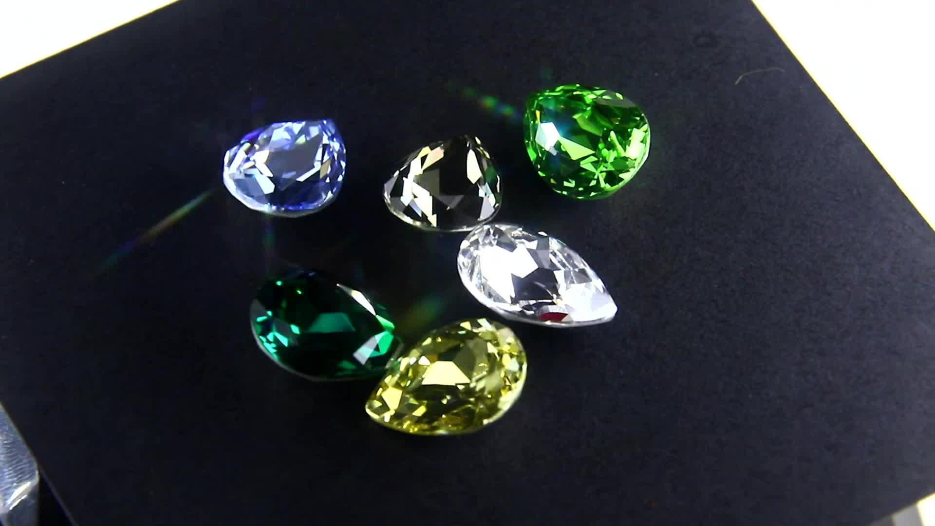 Großhandel bunte 13x18mm tropfen kristall strass für schmuck machen