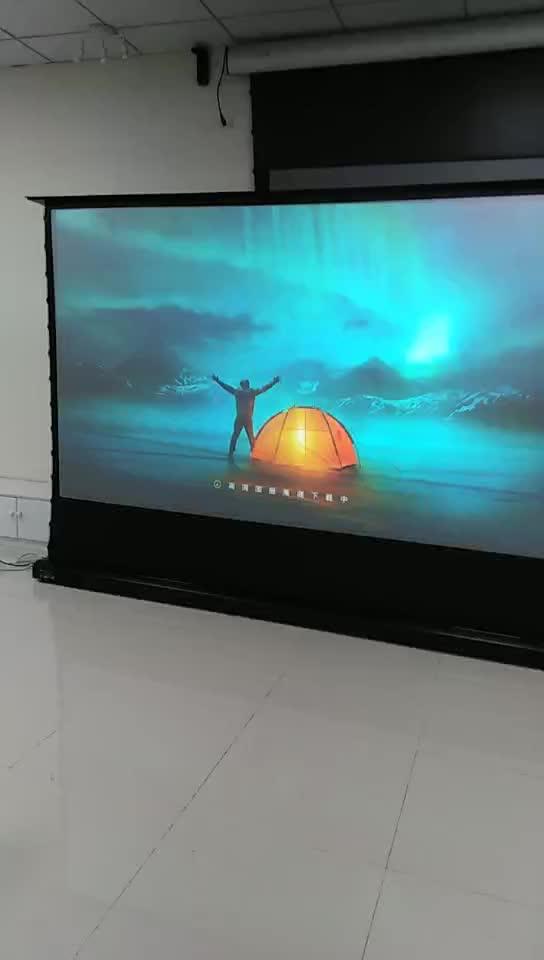 ScreenPro100''-120 ''invólucro de Alumínio floor standing telas de projeção motorizada elétrica independente