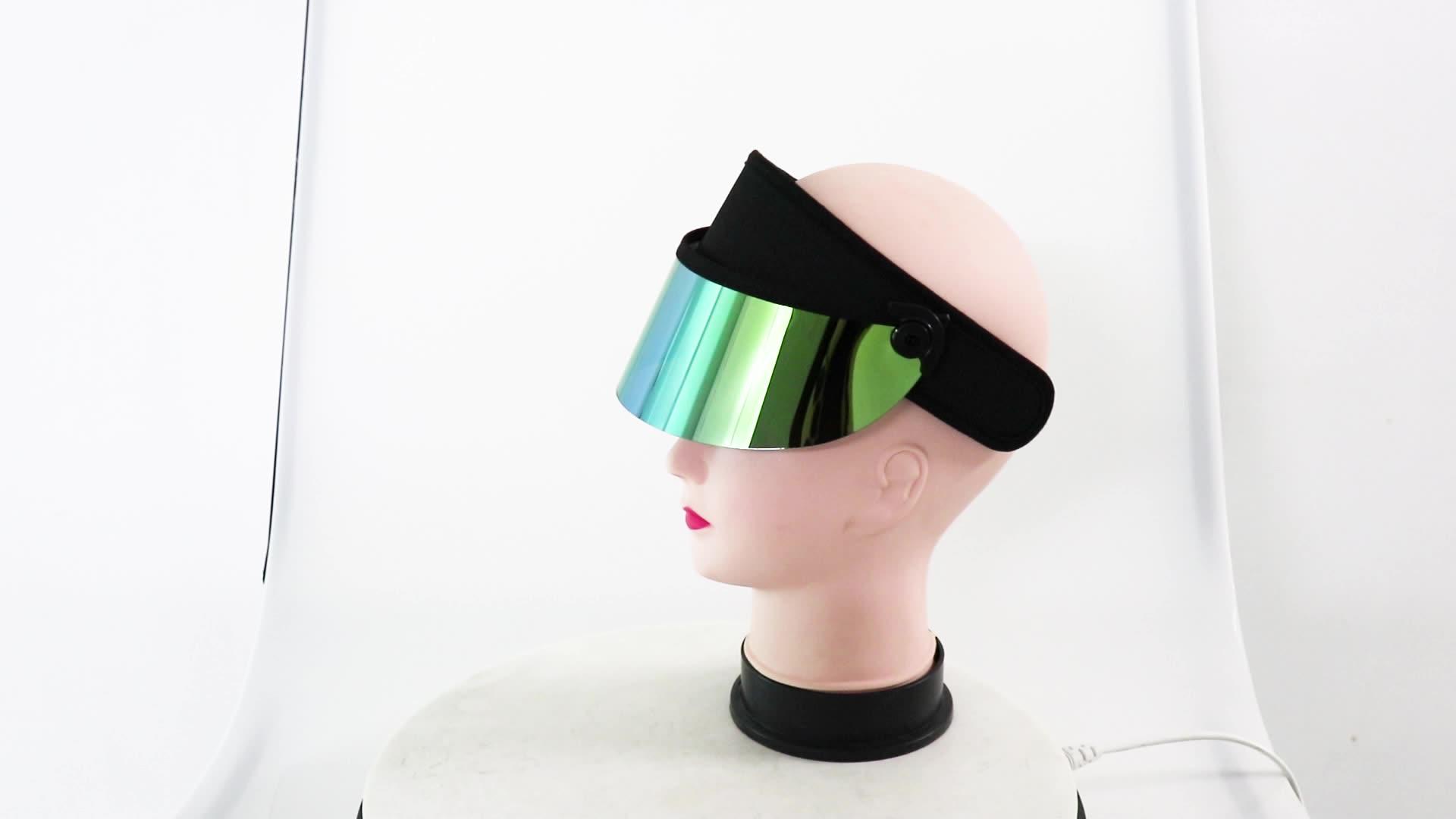 Scratch Resistance Sport Visor UV Protection PC Sun Visor Cap face Visor hats wholesale