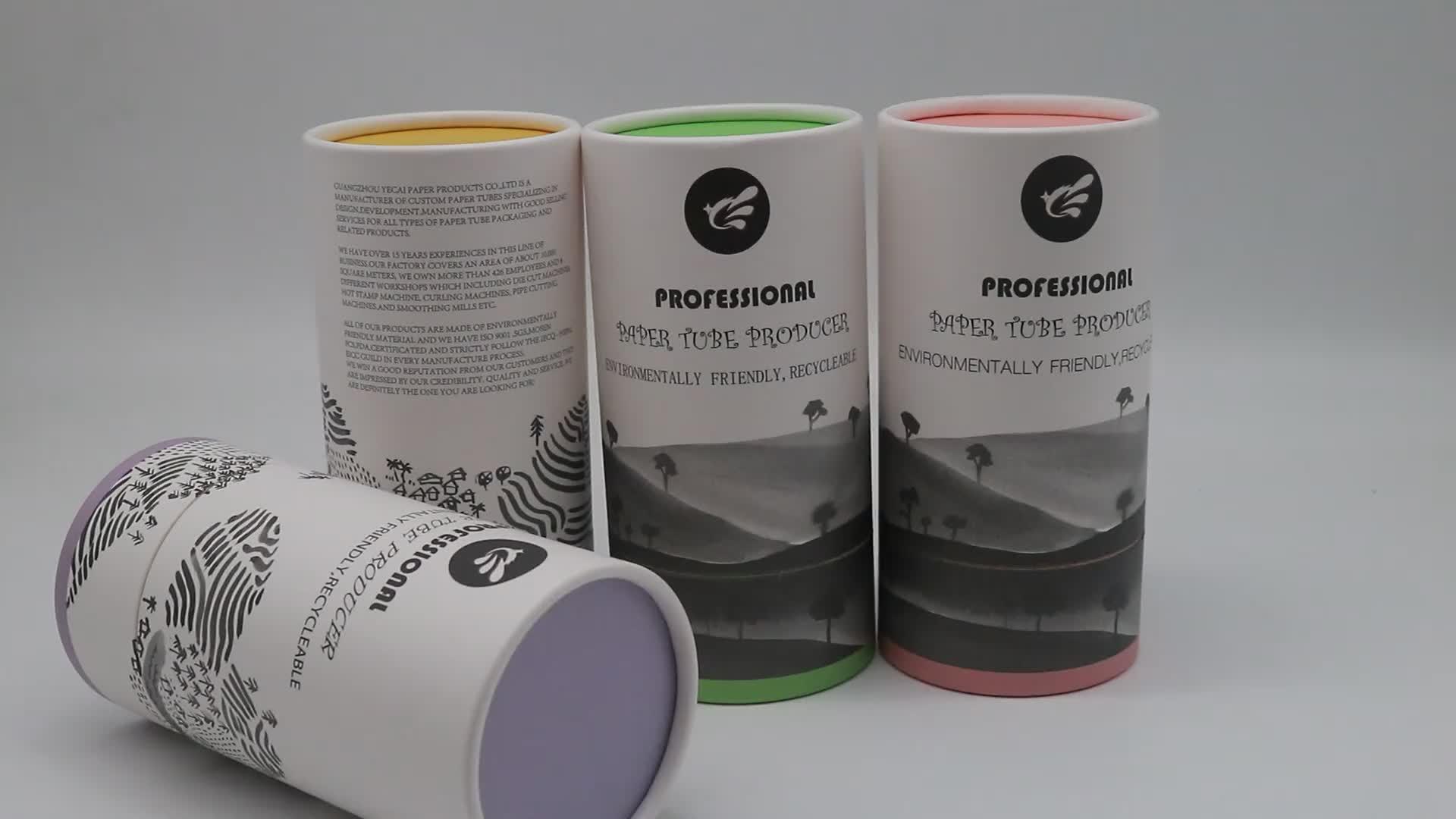 Rotondo Tubo di Carta Scatola da Tè con PVC Trasparente Finestra di Moda di Lusso regalo di Carta Può paepr imballaggio