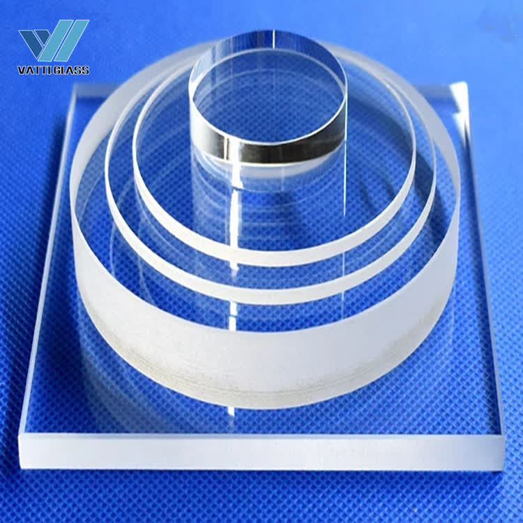 High transmission transparent uv quartz glass plate