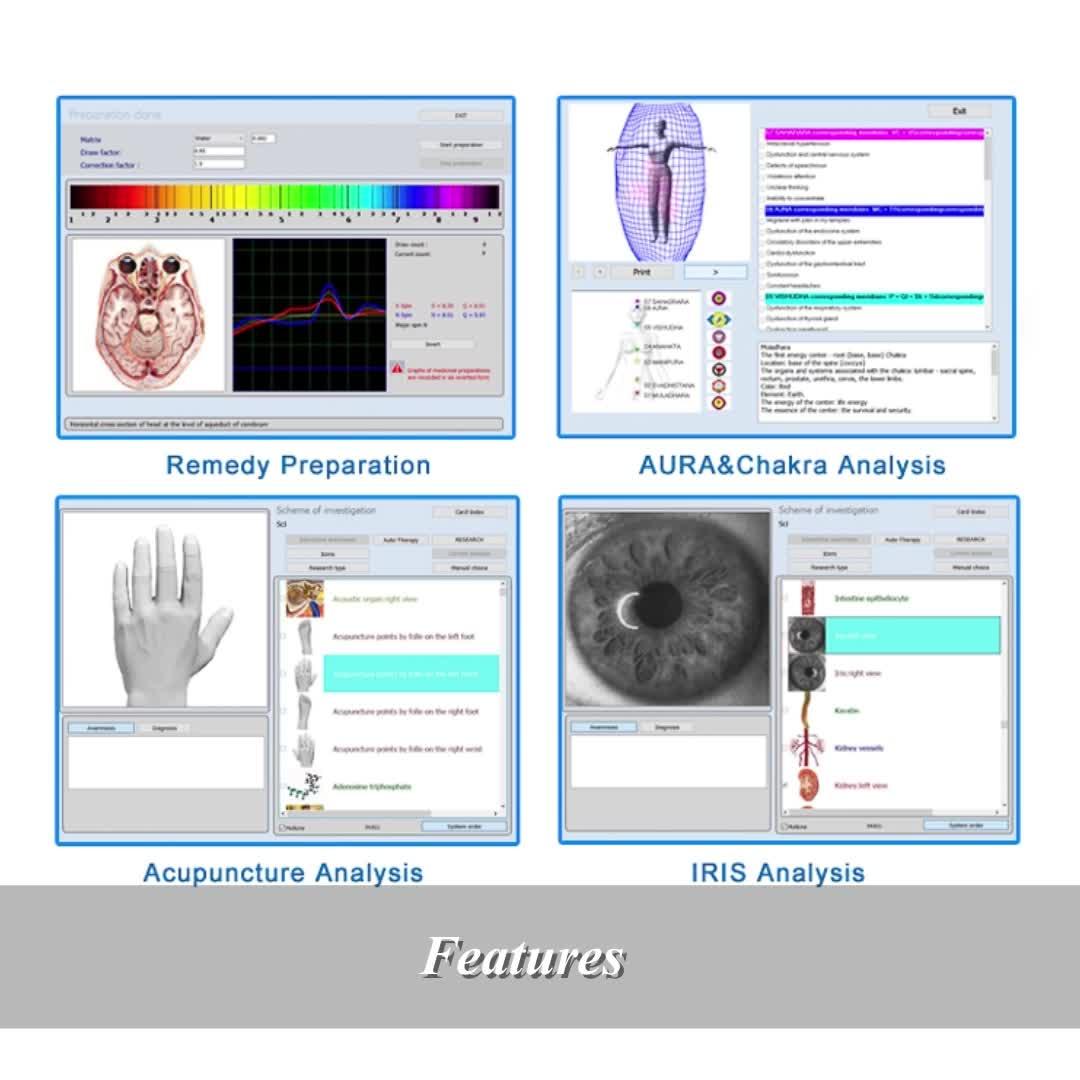 9D NLS Nonlinear ทางเทคนิค Systems ต้นฉบับรัสเซีย 8D/17D 9D NLS health body scanner