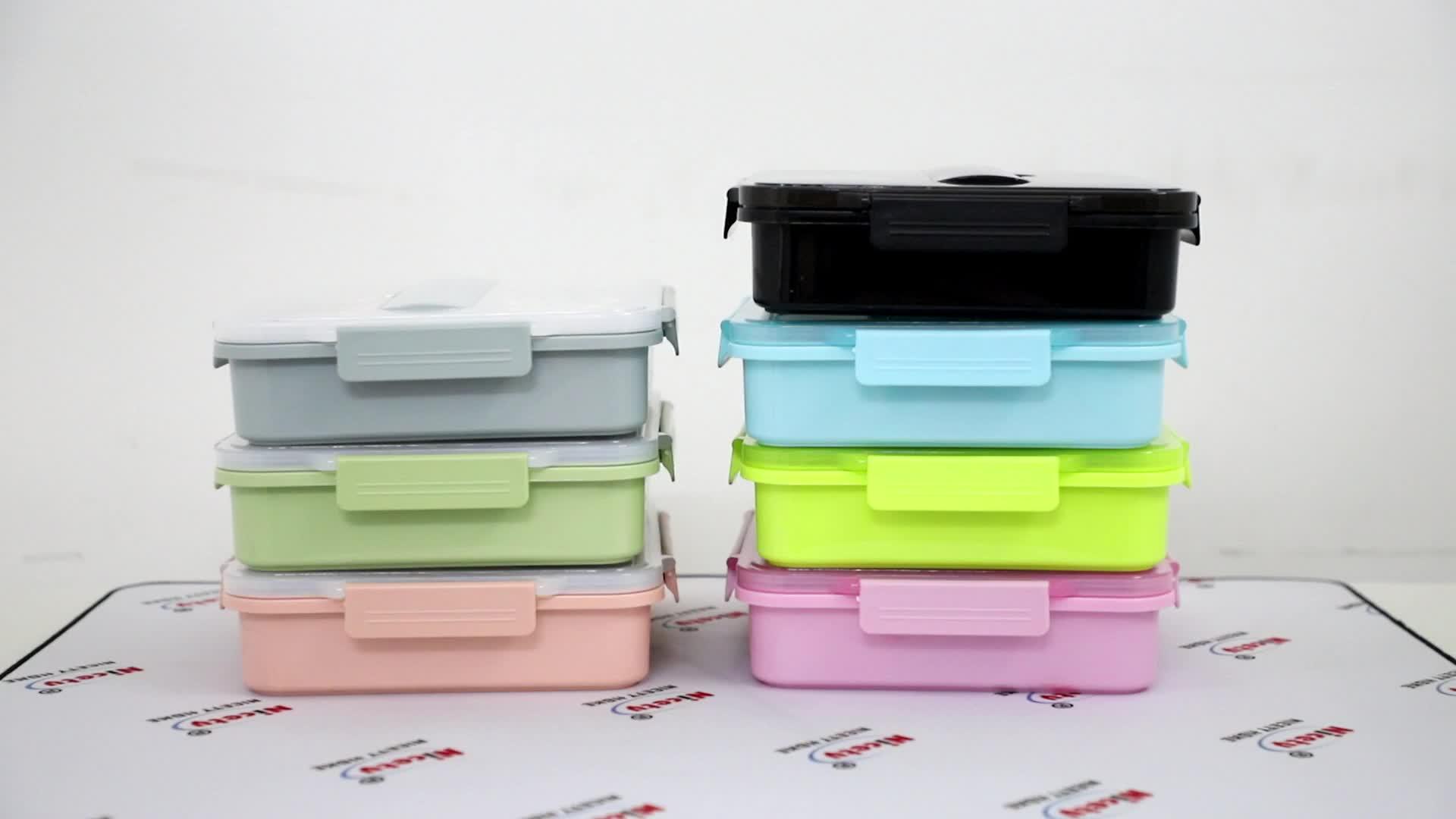 Metalen 304 rvs lunchbox eco vriendelijke custom bento lunchbox