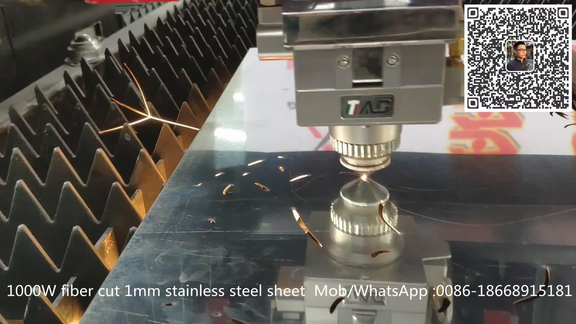 Prezzo di fabbrica tavolo doppio in fibra laser macchina di taglio in metallo