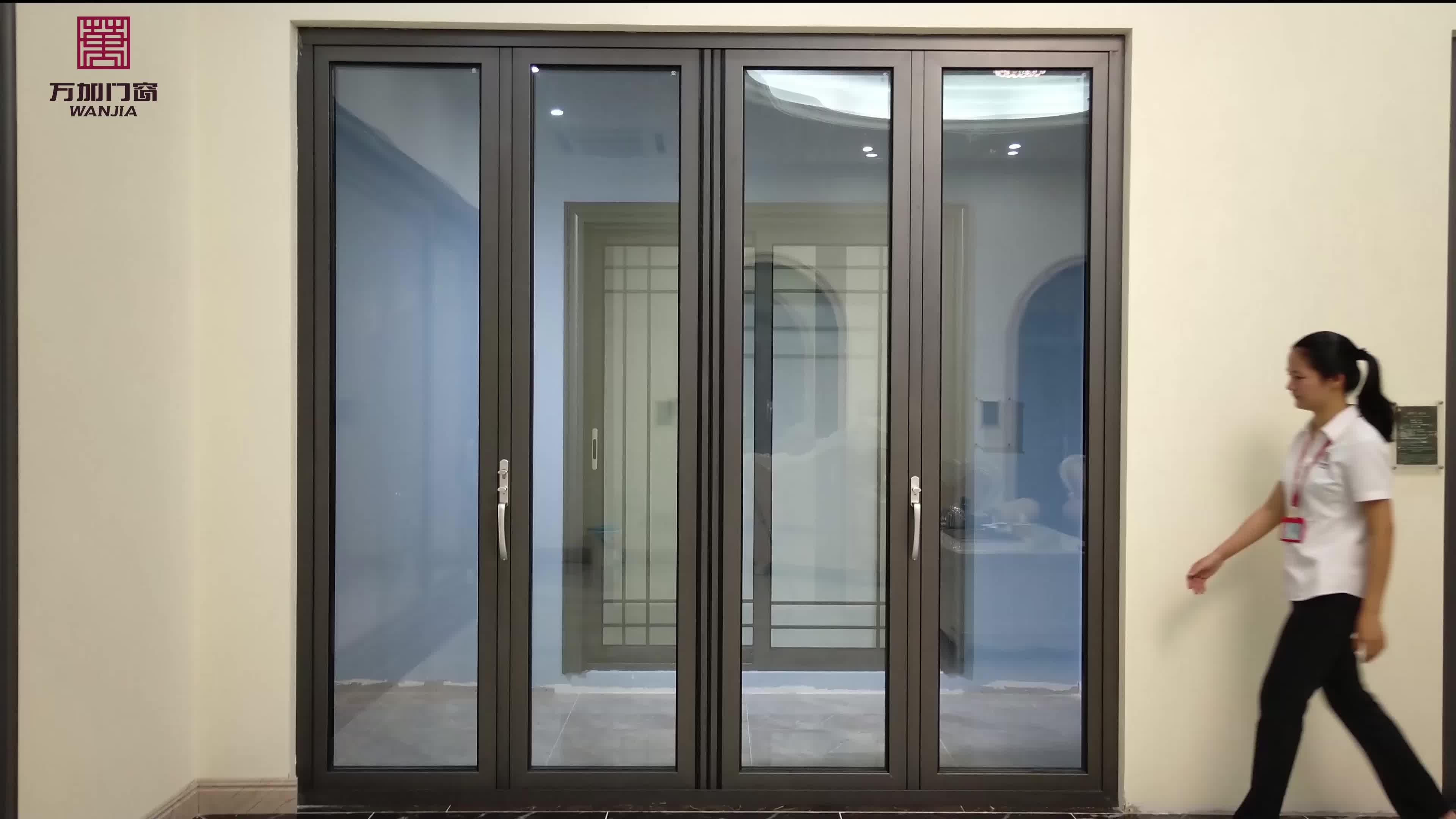 pictures aluminum glass folding/ bifold/ bi folding window and door