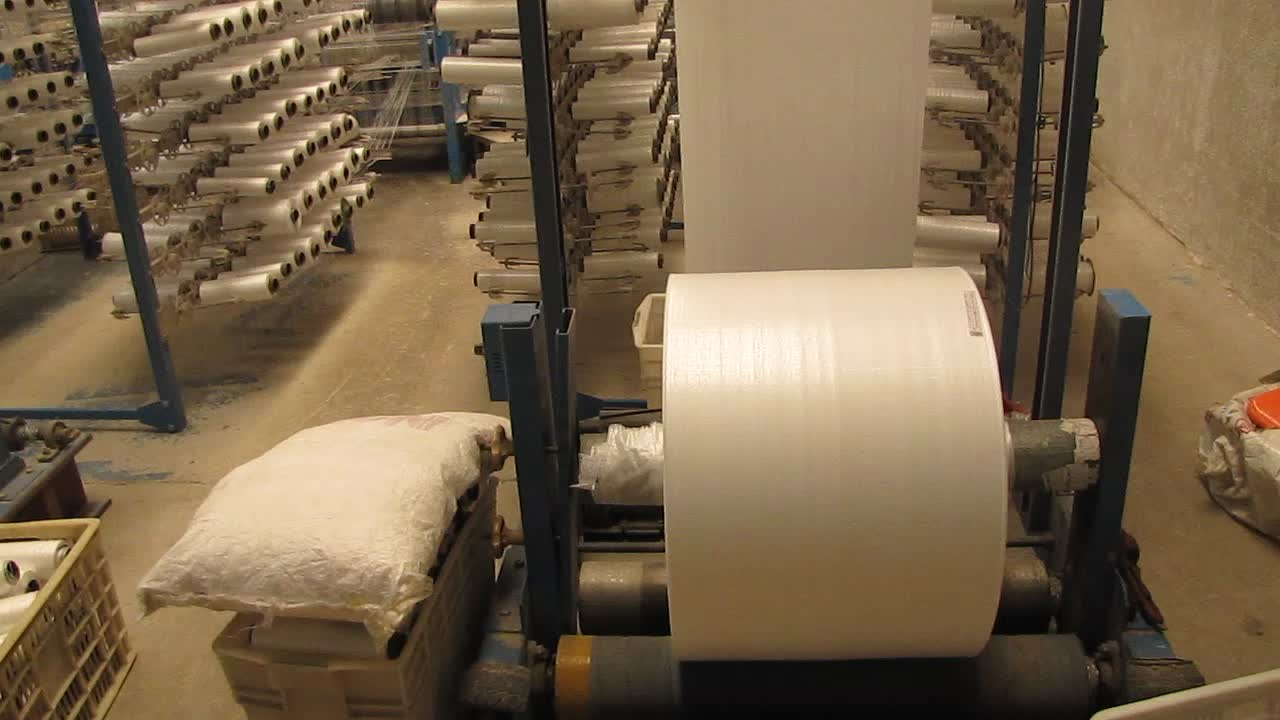 Plastic Packing Recyclable Cotton Fabric Roll Sealed Pp Woven Sack Flour Rice Bag for 10kg 50kg Packaging