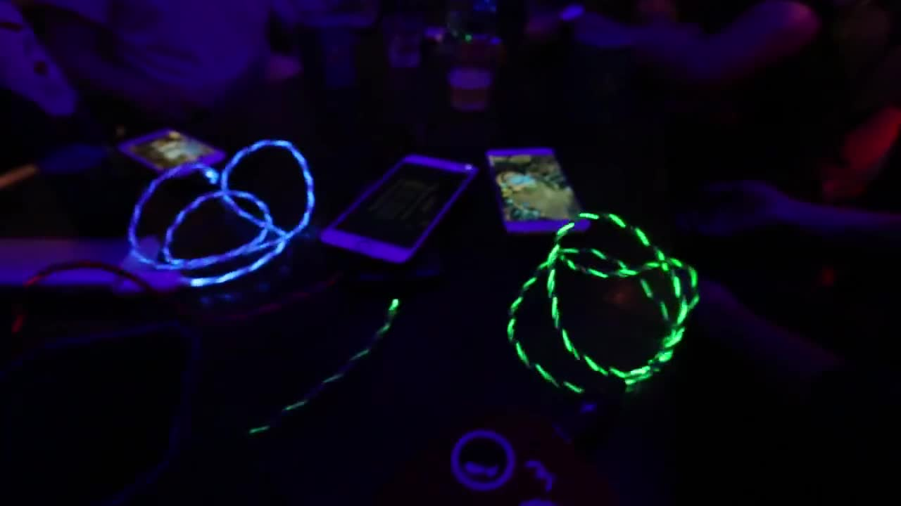 Amazon 3 in 1 LED Glow Flowing magnetic Charger usb led cable Micro USB Type C 8 Pin Charging for iPhone all in one magnet Cable