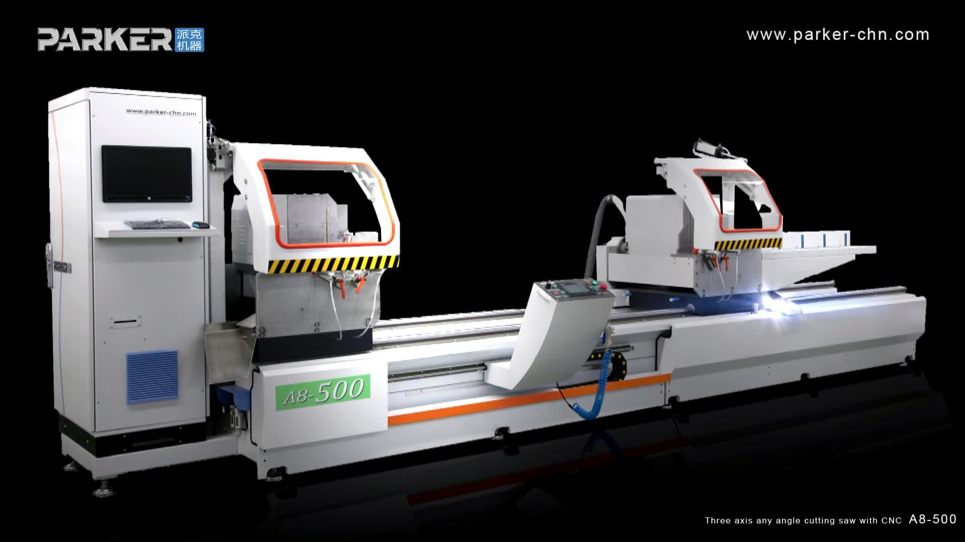 China neue typ 3 achse aluminium profil cnc doppel kopf schneiden sah preis