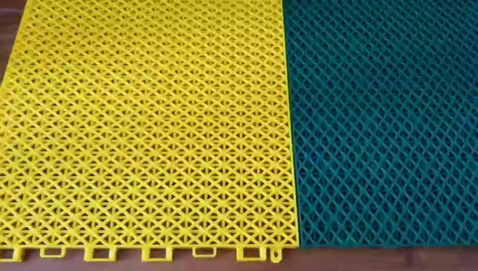 Hot selling draagbare indoor outdoor basketbal gebied oppervlak hof materiaal