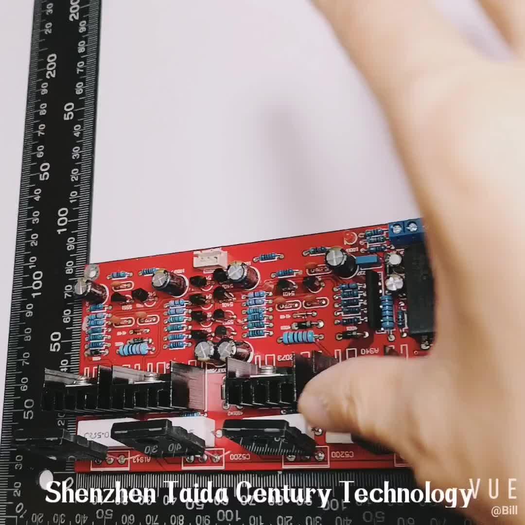 Taidacent AC คู่ 20V-32V ตัวเก็บประจุกรอง 2*100W Electron power ทรานซิสเตอร์ MOSFET 2SA1943 2SC5200 เครื่องขยายเสียง