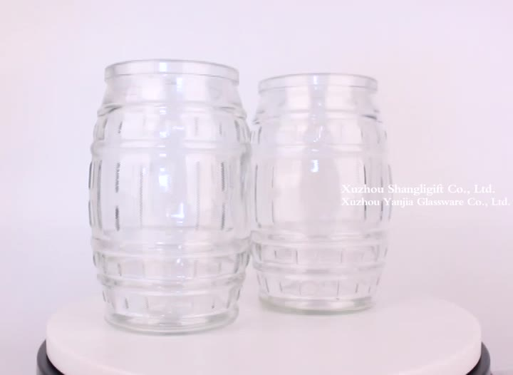 600ml glass jar bottle for honey jam food storage with cap