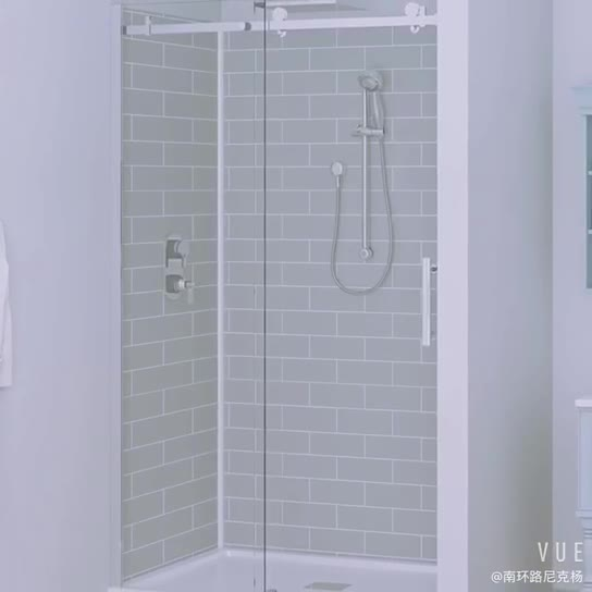 Acrylic Pvc 3 Panel Sliding Glass Shower Door Kits Buy