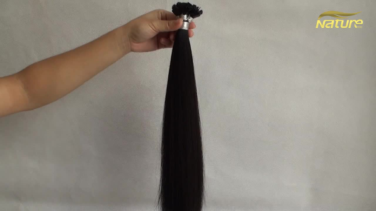 Most Popular In UK Pre-bonded Hair Fusion italy keratin flat-tip glue hair extensions