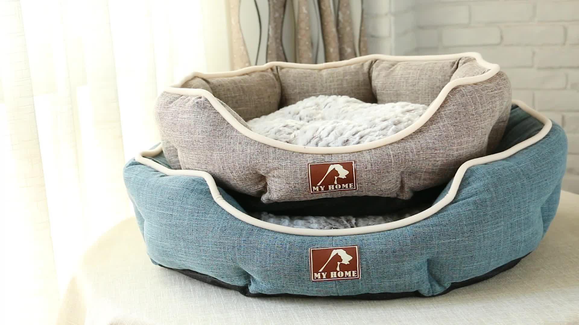 कपड़े के लिए चीन थोक Foldable लक्जरी पालतू पशु उत्पादों कुत्ते बिस्तर कुत्ते