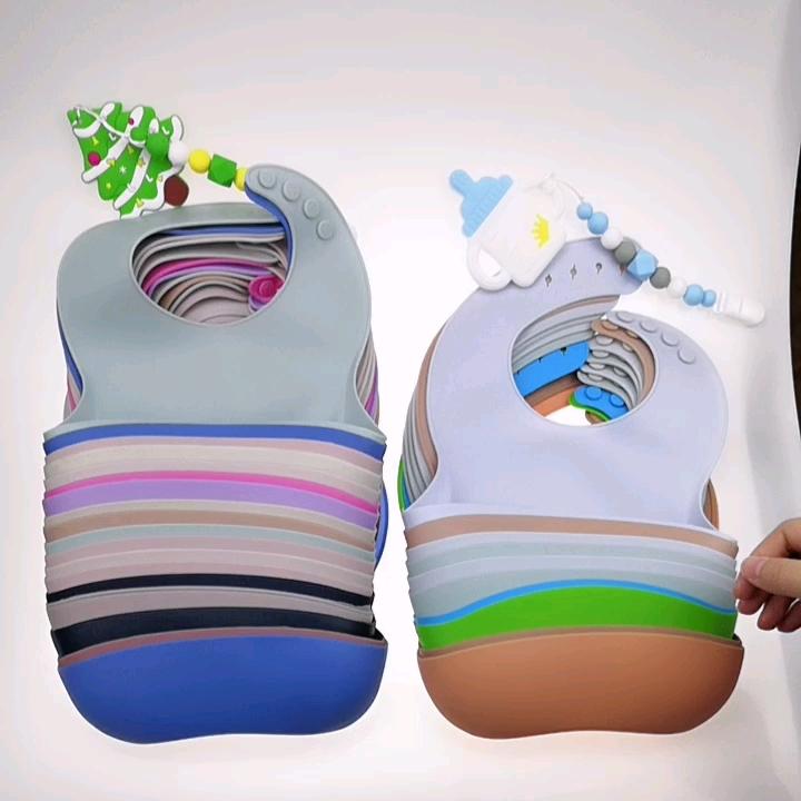 Baberos de Silicona personalizados, Baberos de Silicona impermeables, Baberos de Silicona para bebé