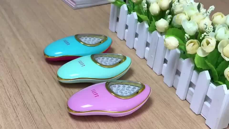 Make Up Facial Wash Brush LED Licht Facial Massager Micro-Huidige EMS Gezicht Massage Apparaat