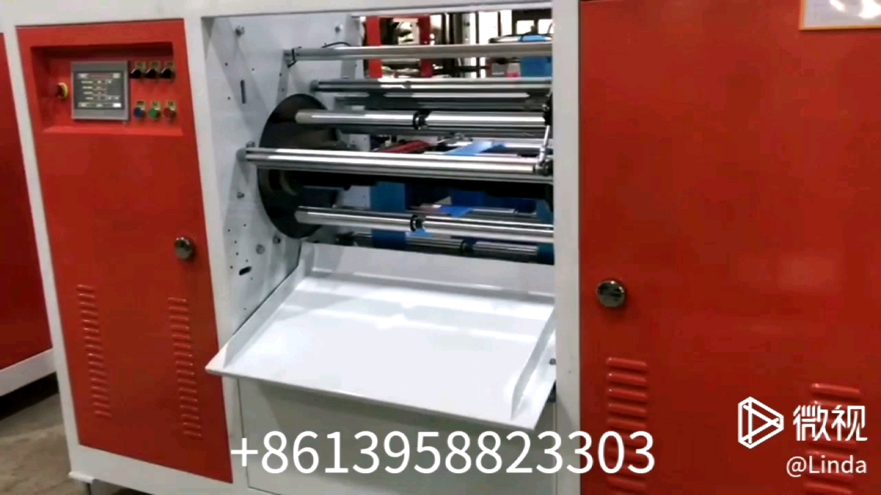 720 AR Automatic High Speed Disposable Rubbish Double Lines Roll Plastic Garbage Bag Making Machine with auto exchange device