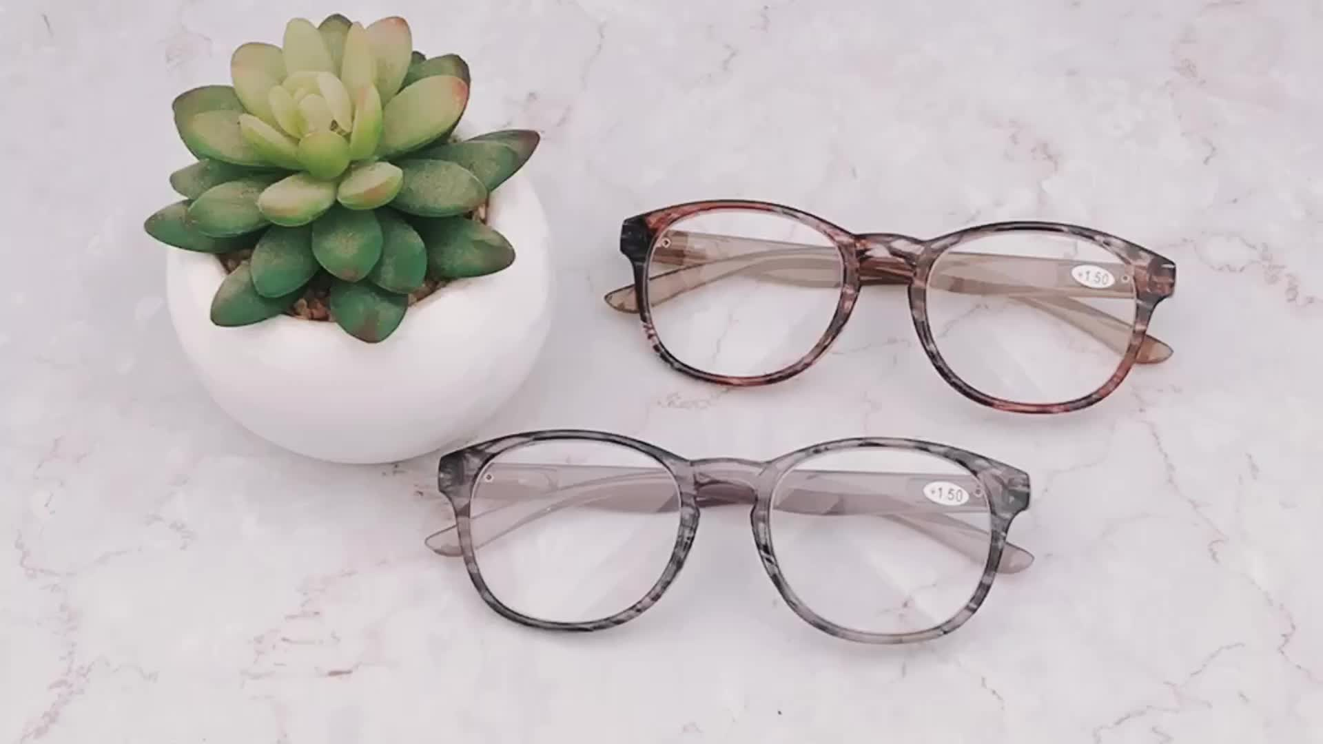 2019 Fashion Cateye Shape Reading Glasses with Wide Temple