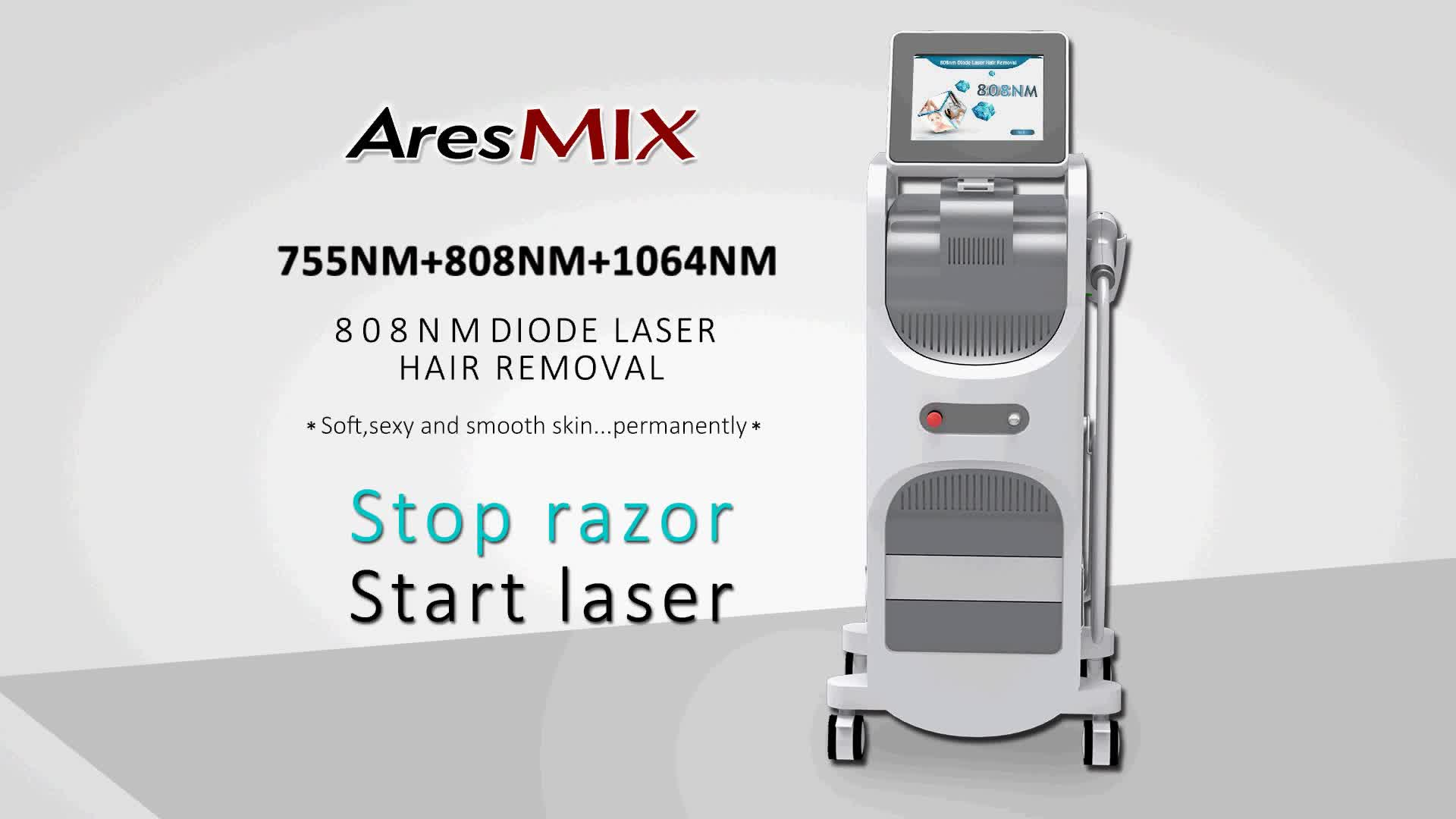 Hair Removal 755 808 1064 Triple Wavelength Diode Laser Alexandrite 755Nm Laser Machine
