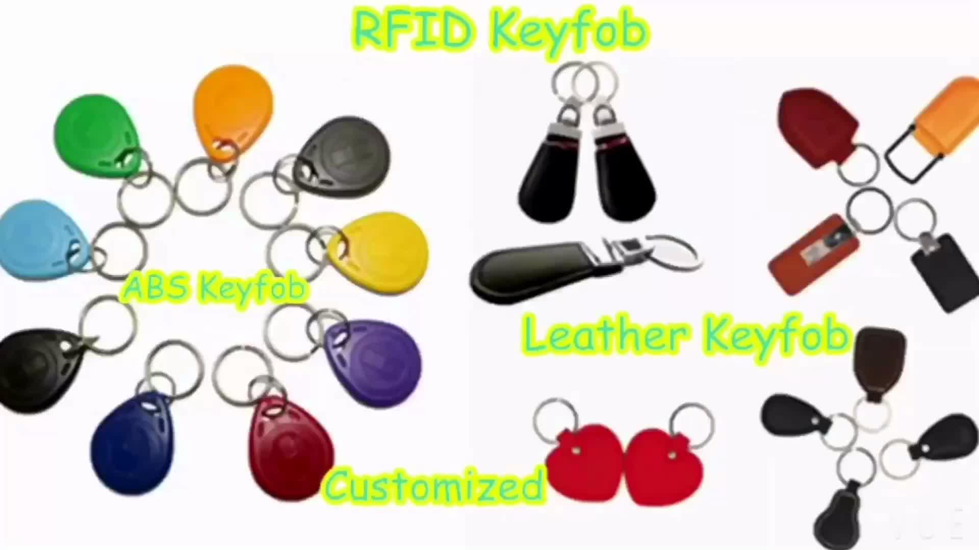 rfid em4200/tk4100 access control keyfob tag/key chain