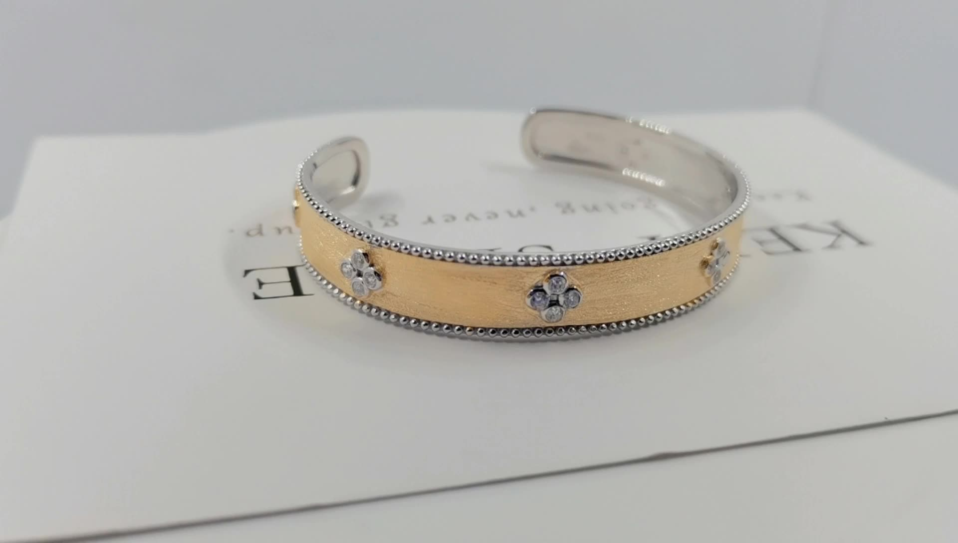 Women and man open cuff bangle adjustable 925 sterling silver plating  gold plating
