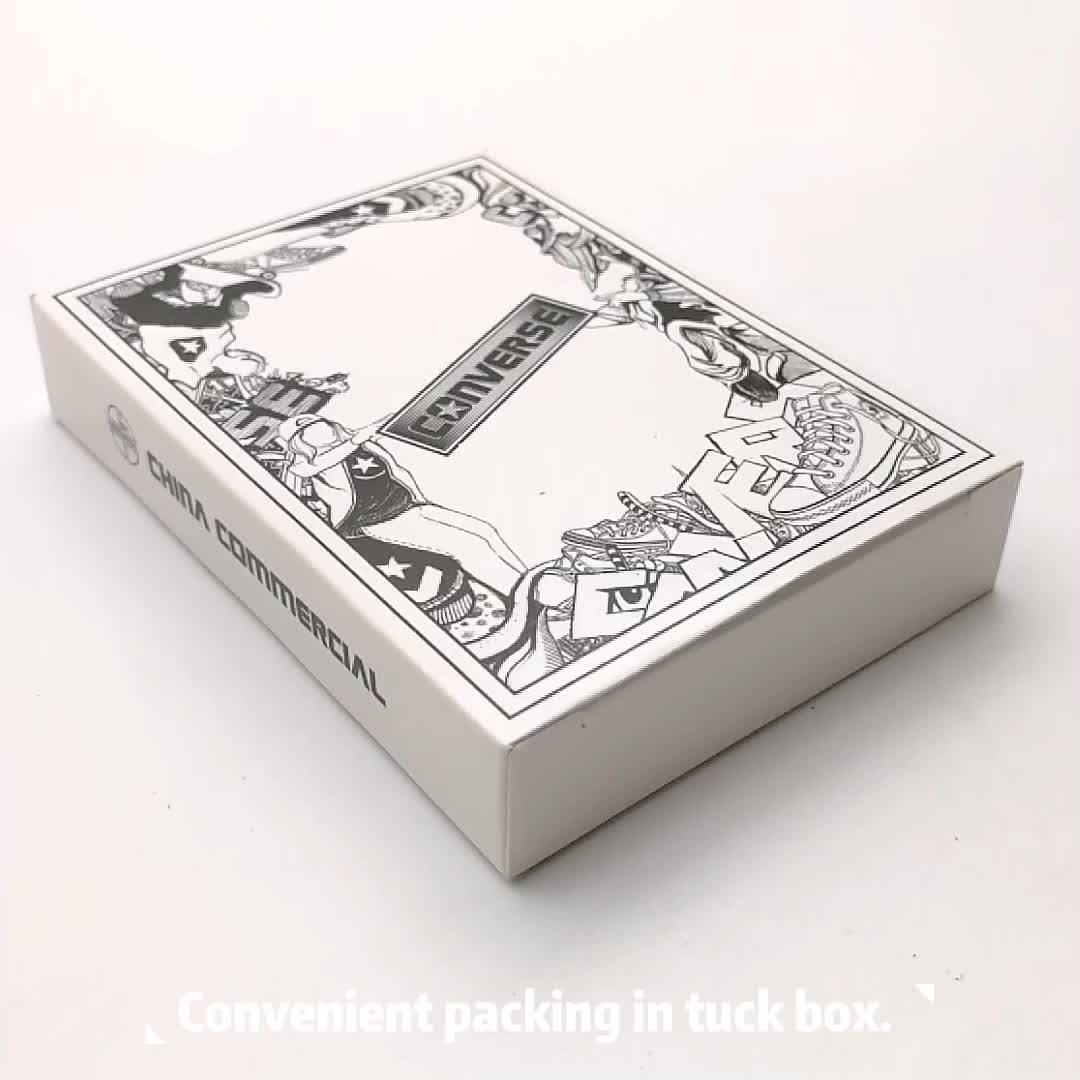 Professional Personalizado 100% PVC Plástico Cartão de Jogo Com Caixa de Dobrar