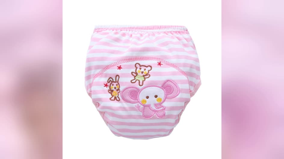 Wholesale lovely unisex baby pants cartoon animal popular reusable diapers training pant for baby boy baby girl