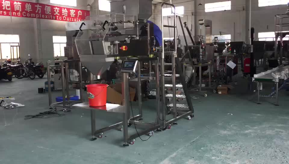 Special Flexible triplex vibratory electric weigher weighing scale machine for 1-5kg dates beef food hardware screw nut bolt
