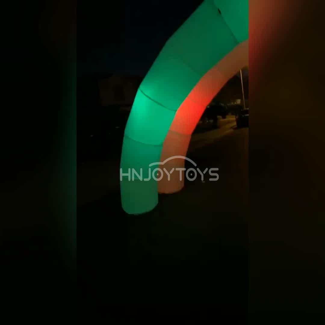 في الهواء الطلق LED الأبيض قوس قابل للنفخ مع تغيير لون