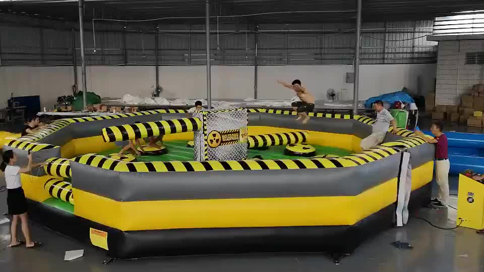 CE certificate China best sale kids adult inflatable sport games toxic inflatable meltdown for sale