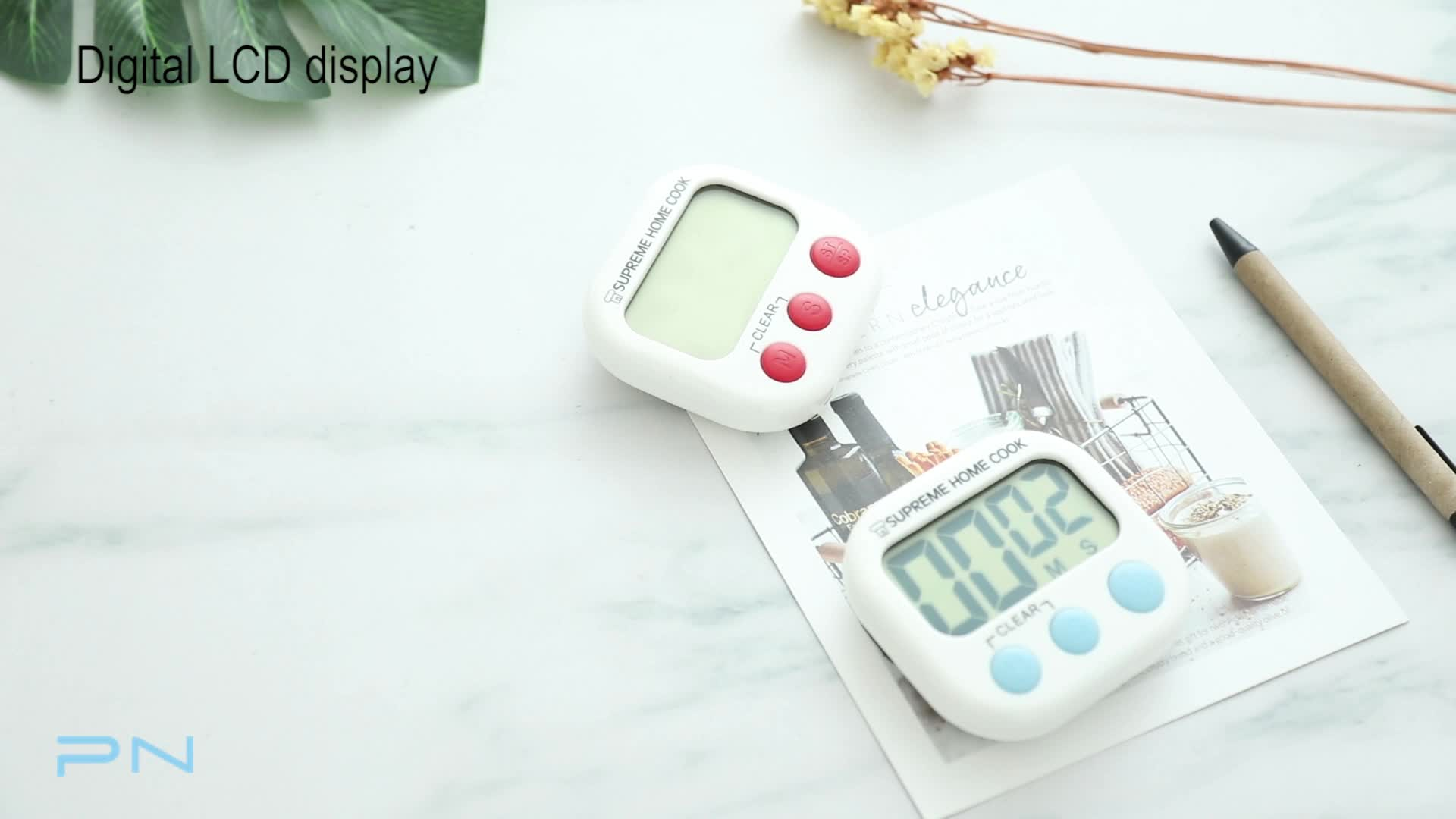 Magnetic Electronic Digital Countdown Kitchen Timer Cooking Timer with Loud Alarm