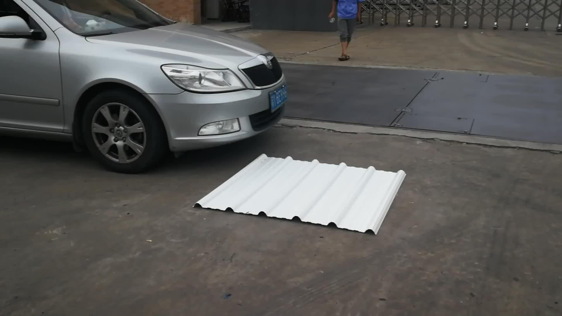 Asa rivestito upvc tegole ondulato di plastica isolato in pvc leggero pvc tetto di plastica