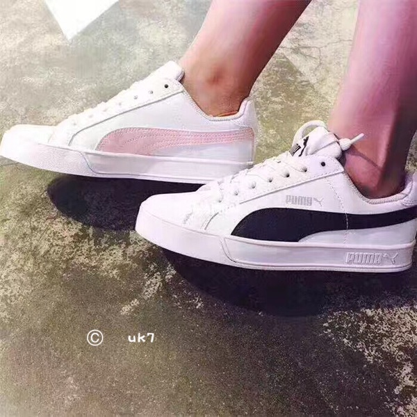1b5f137f112 Puma Puma SMASH VULC casual shoes cherry powder white powder black and white  men and women. Zoom · lightbox moreview · lightbox moreview ...
