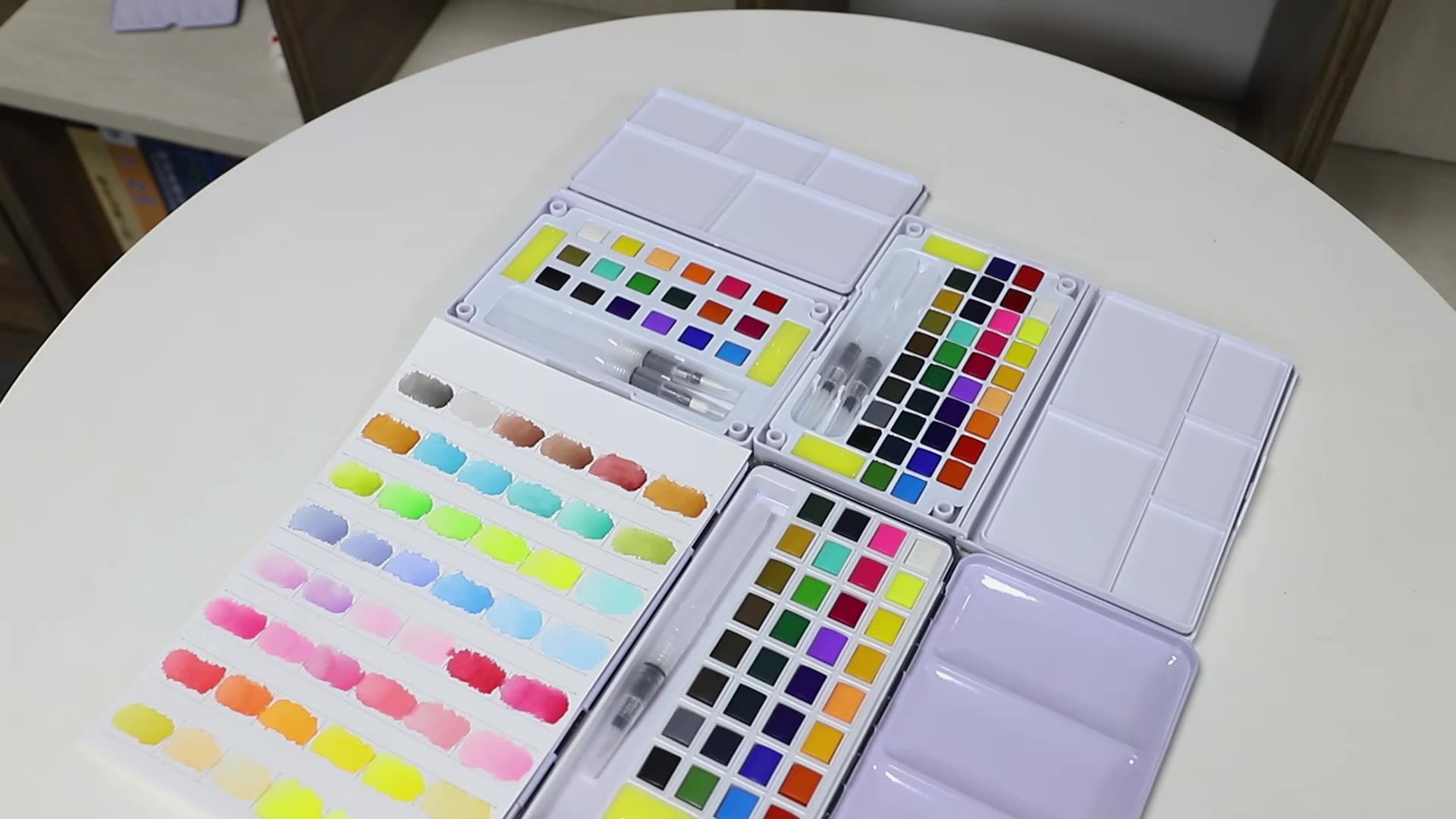 Factory Direct 12 Colors solid watercolor set for artist paint