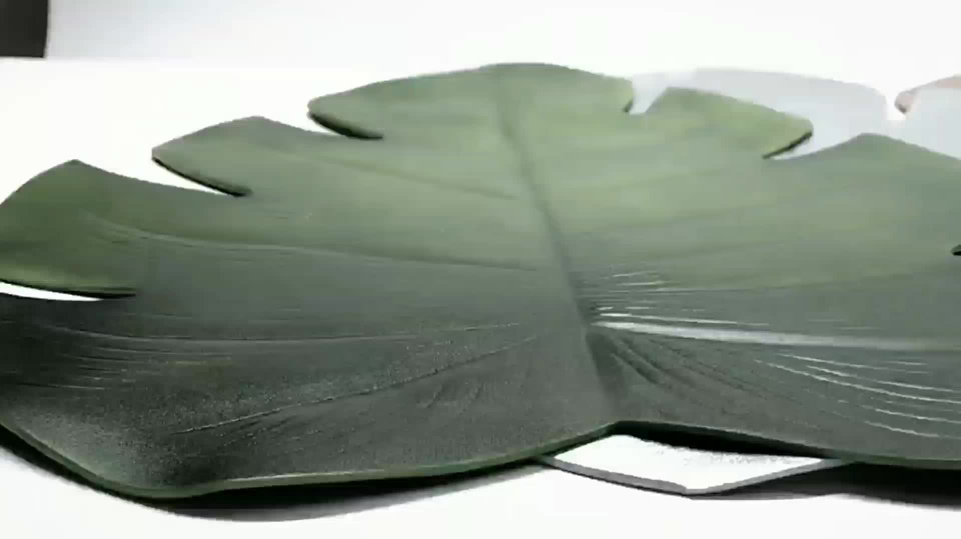 Tabletex New design Eco-Friendly summer hot sell eva leaf shaped coaster placemat