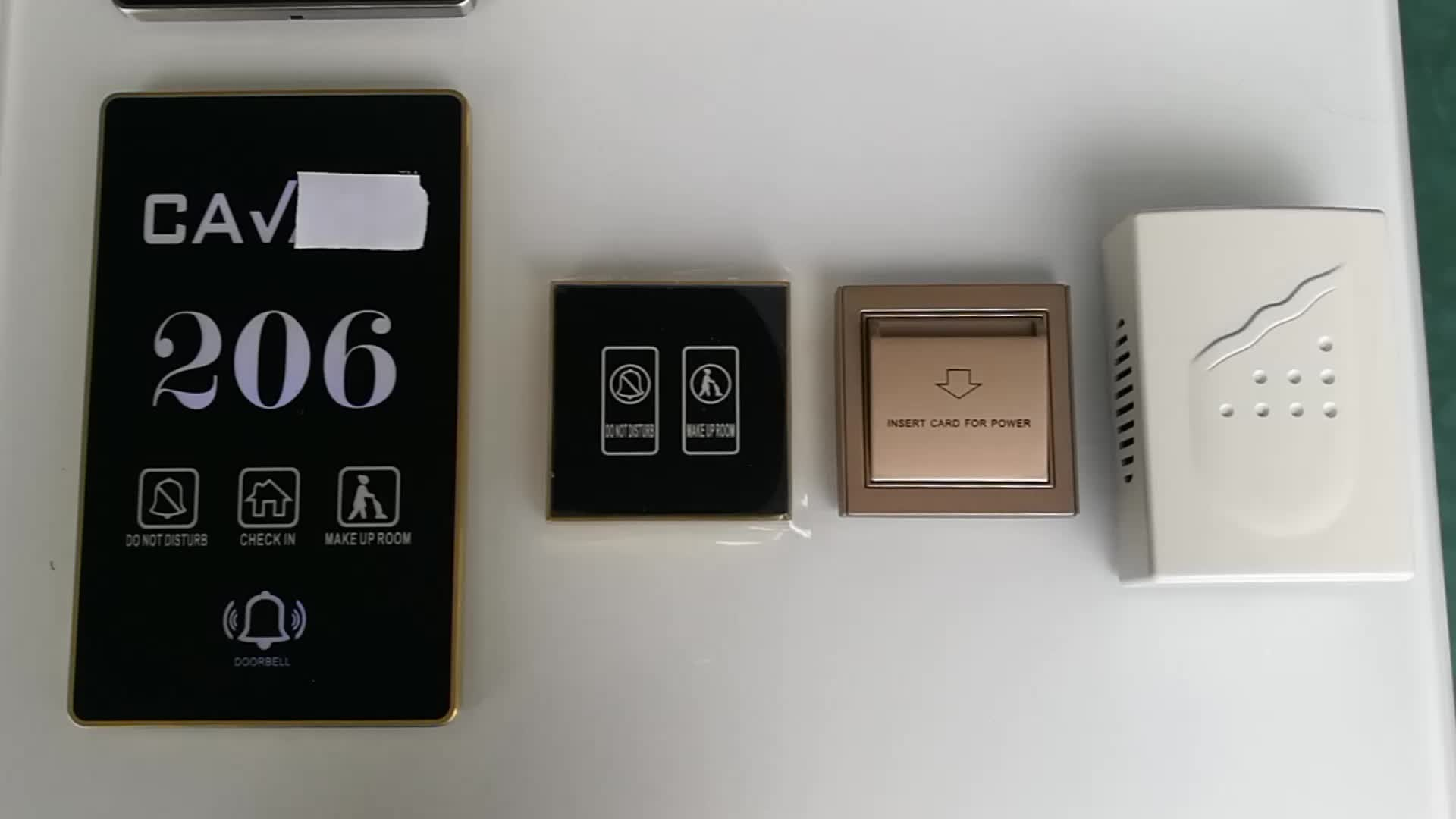 Hotel Room Number Display Touch Switch Saver Doorplate Room Number DND System