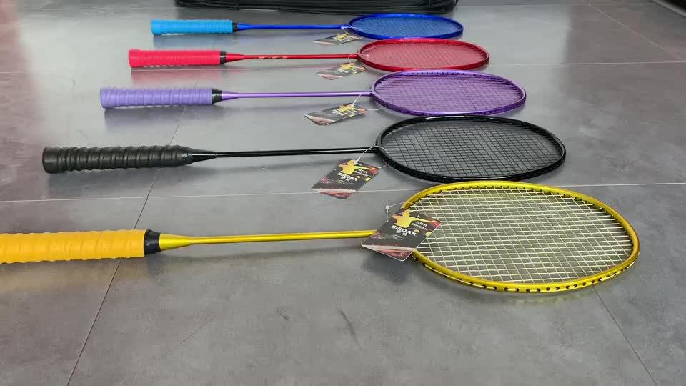 Custom Logo Full Carbon Badminton Racket Hoge Kwaliteit Duurzaam Graphite Fiber 5u (80G) Badminton Racket Trein Tacket