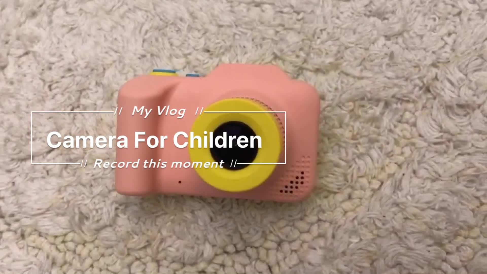 Boomwow Yeni Ürünler Çocuk Karikatür Dijital Çocuk Kamera 1080 P Çocuk Oyun Fotoğraf Video Kamera Doğum Günü Partisi Için noel hediyesi
