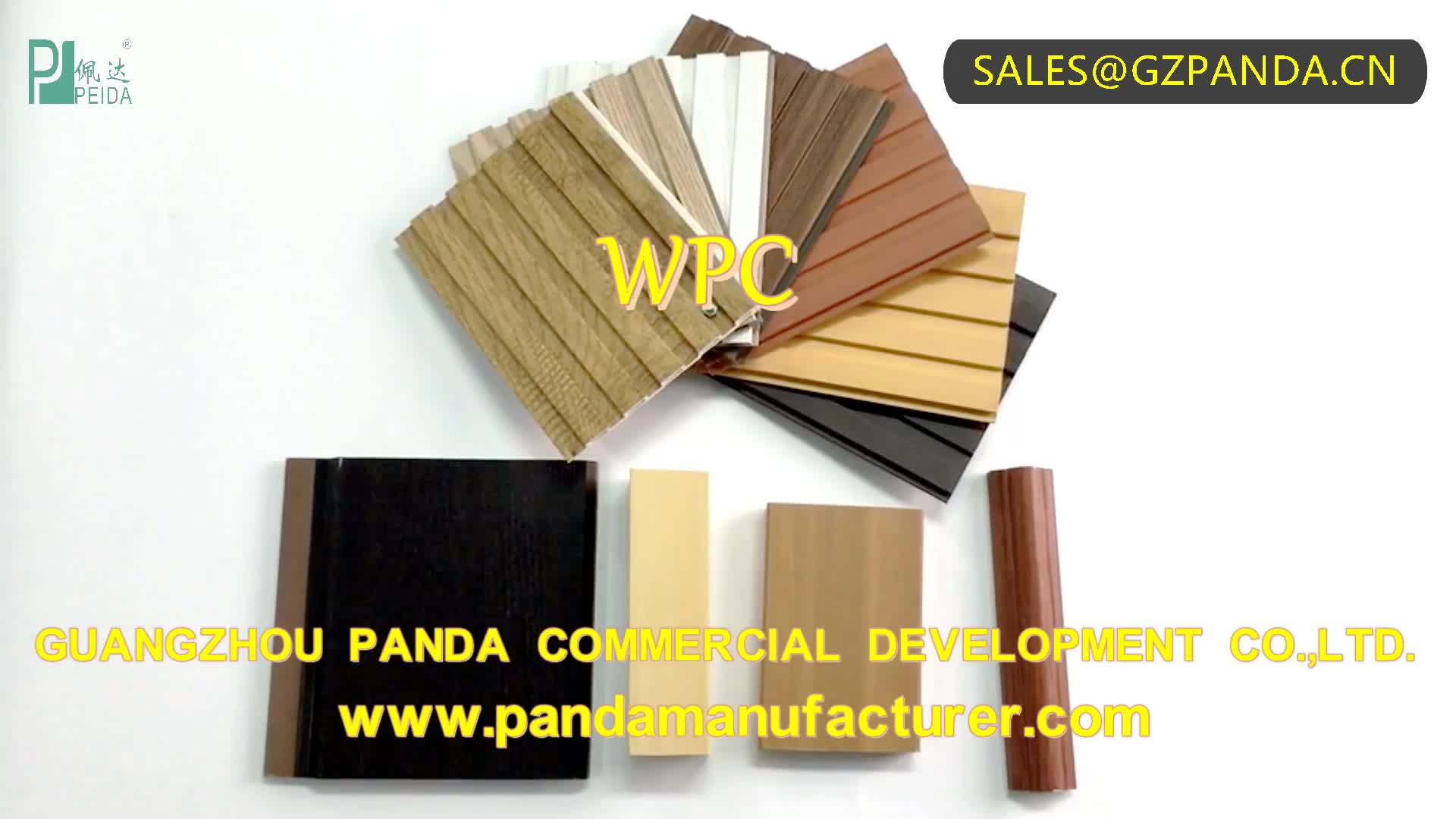 Best Selling 30cm PVC WPC Board Sheet Wall Panel Interior