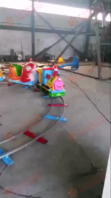 Steel old game crazy children family electric power bus tour riding train