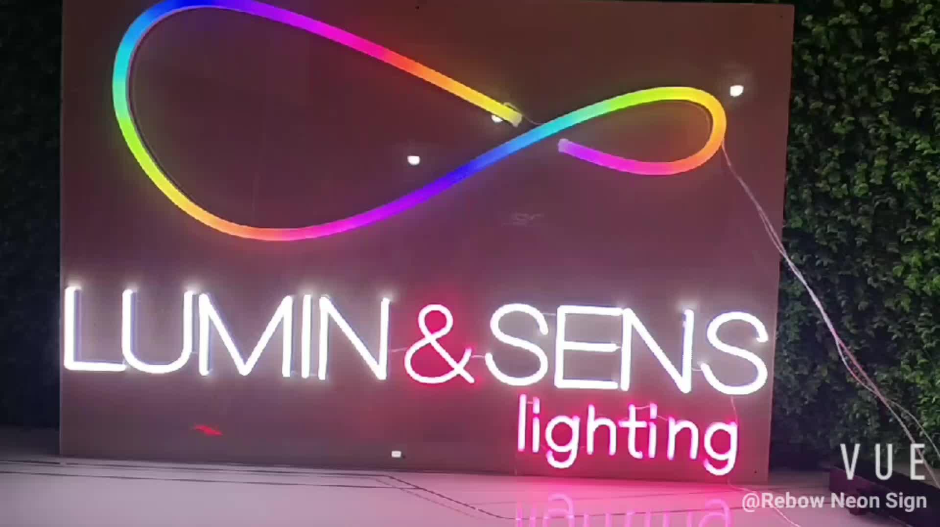 Hot bonito romântico nome personalizado levou neon sinal de luz para a decoração do casamento