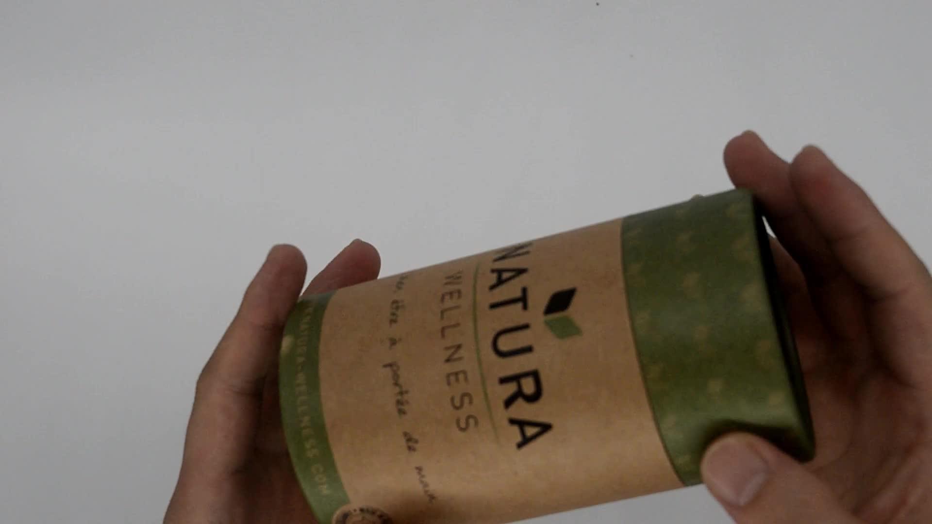 Biodegradable food grade cylinder  box tea paper tube packaging