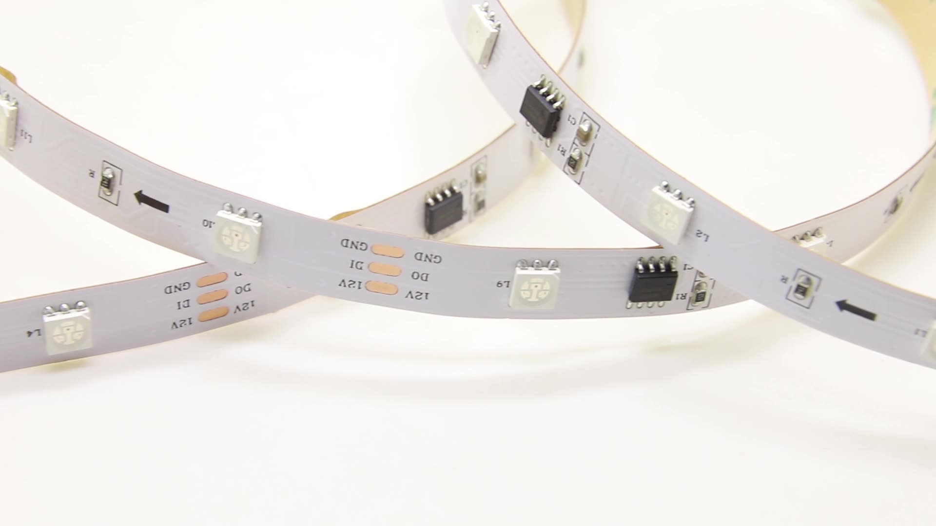 Club Magic RGB strip light 12V 24V black PCB Dream color addressable ws2811 led strip