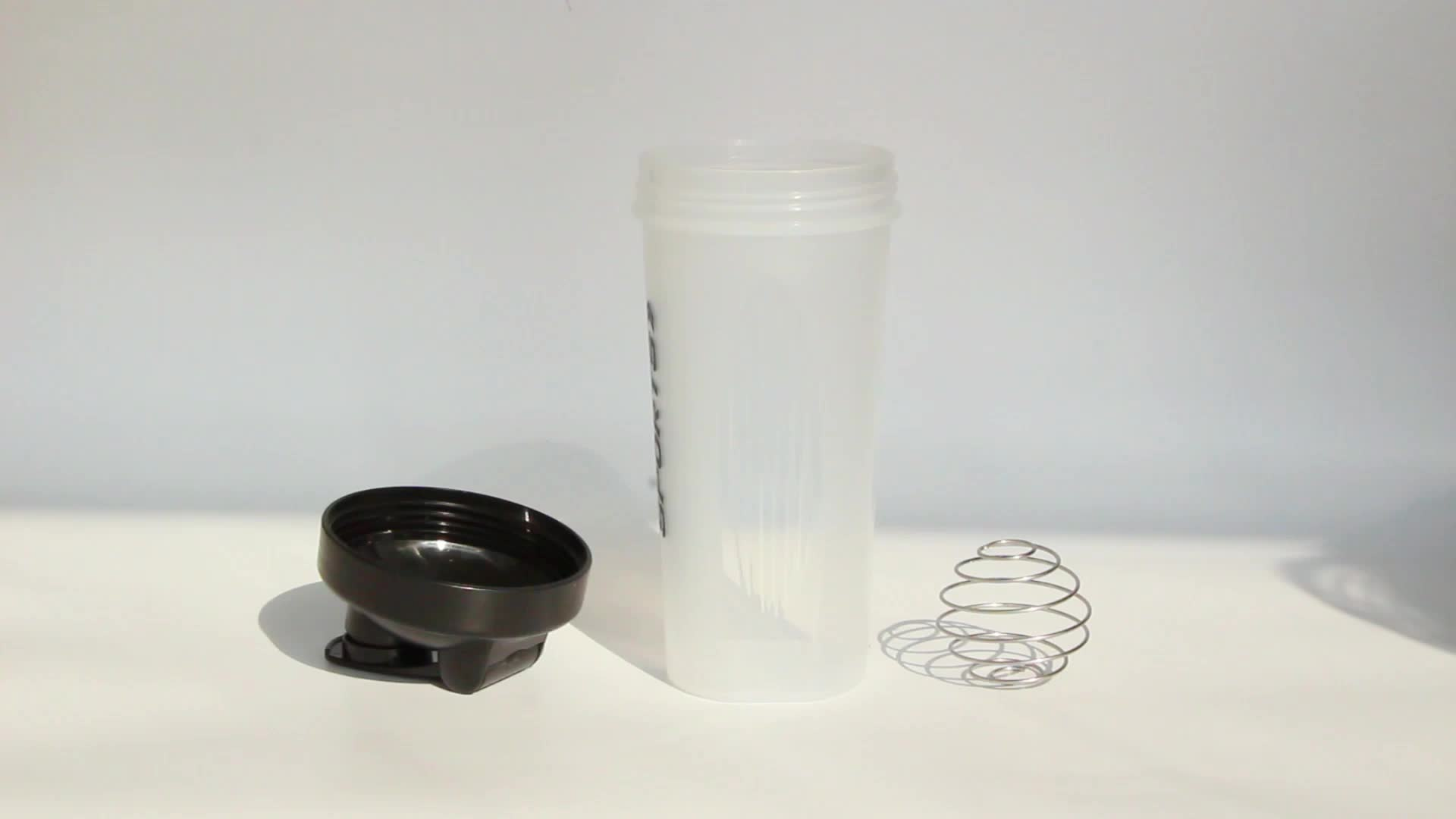Blender Shaker Bottle Clear Outdoor Plastic Shaker Water Bottles